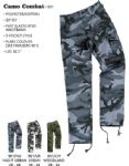 "Camouflage Combat Trousers (Waist Sizes 28 - 44 leg 32.5"")"